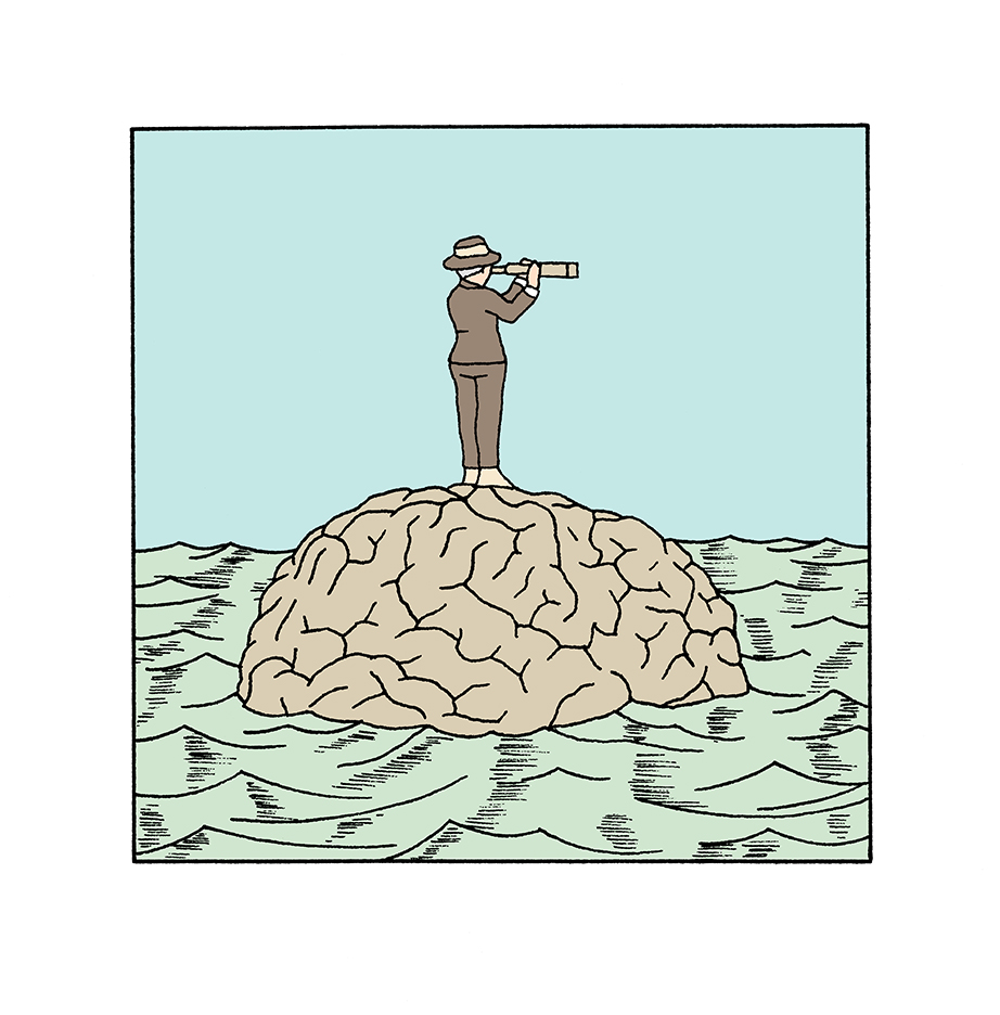 Alain-Pilon-Book-illustration-The-brain-is-an-island