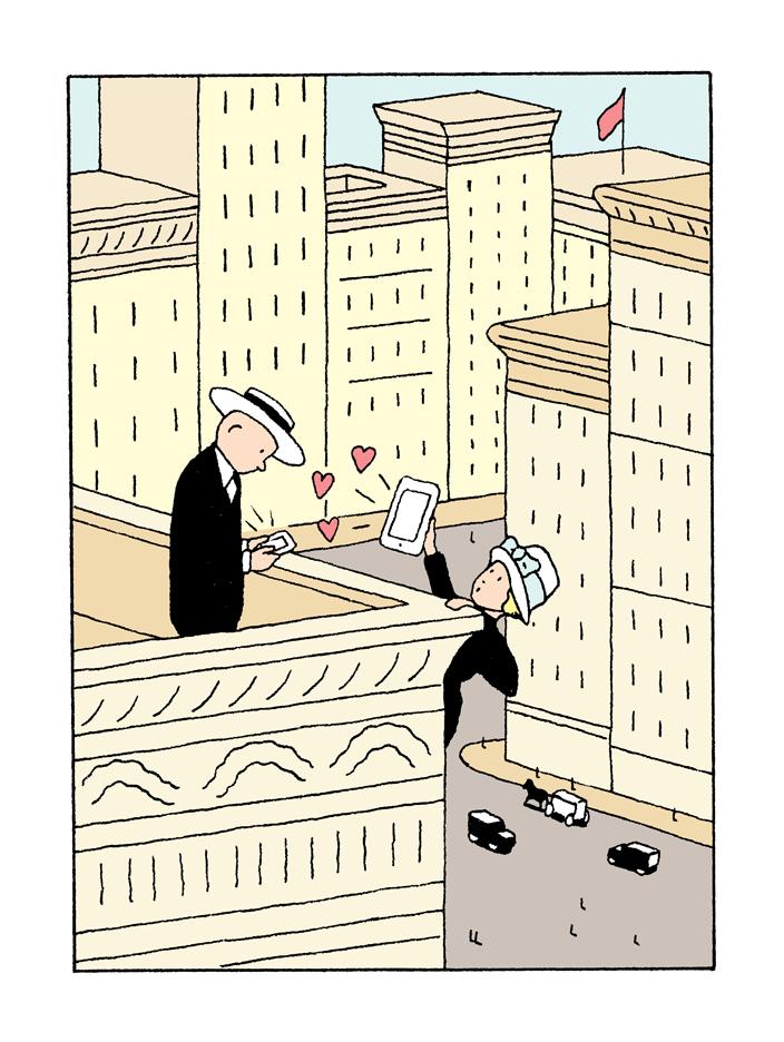 Alain-Pilon-Illustration-for-the-New-Yorker-magazine-Dating