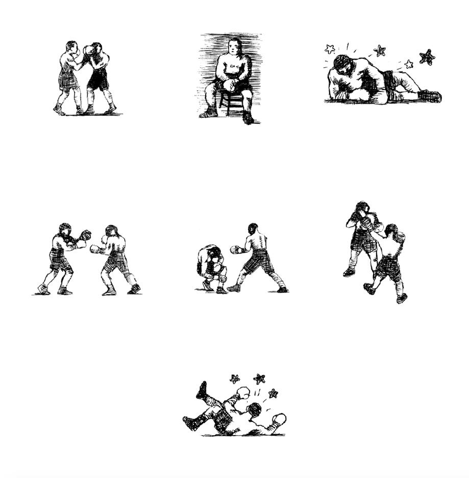 Alain-Pilon-New-Yorker-spots-series-Boxing-