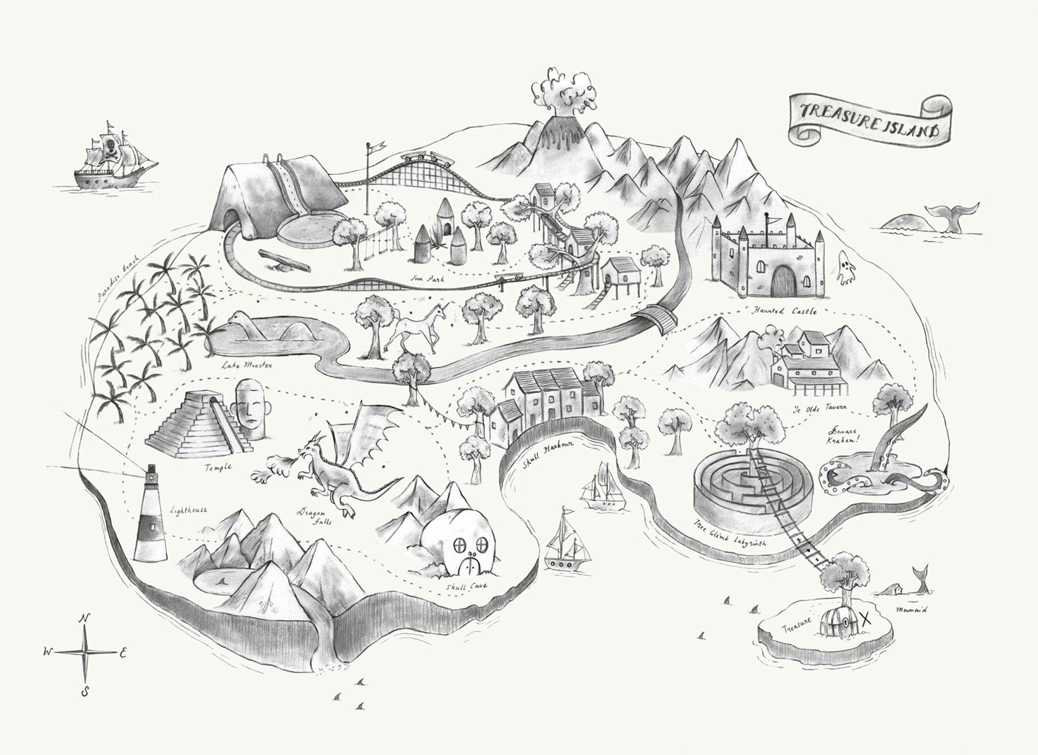 Allira_LAffiche-Moderne_Treasure-Map