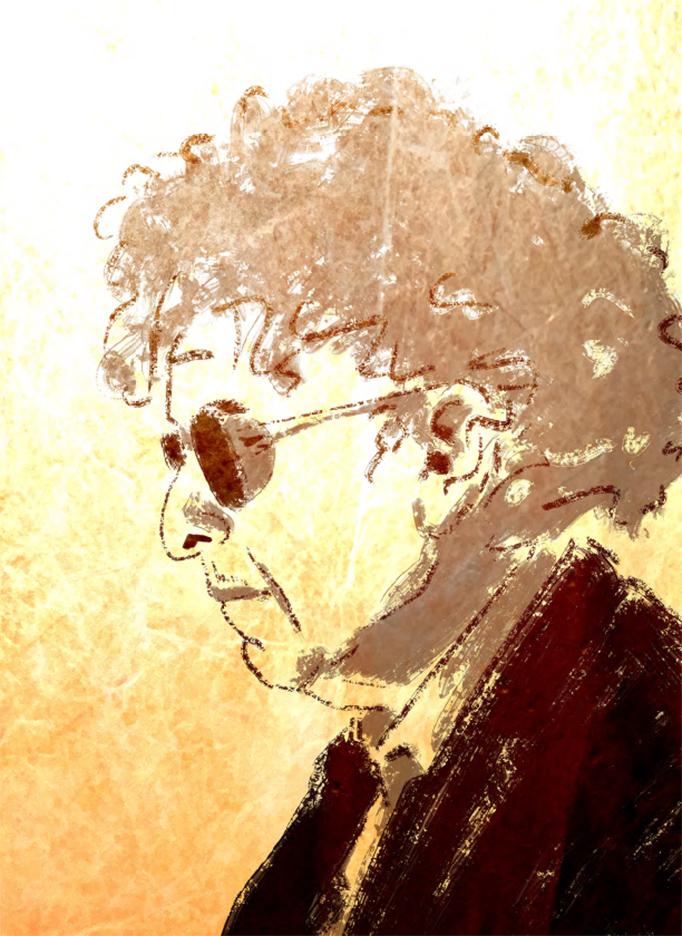 Birgit-Schössow-Personal-work-Portrait-of-Bob-Dylan