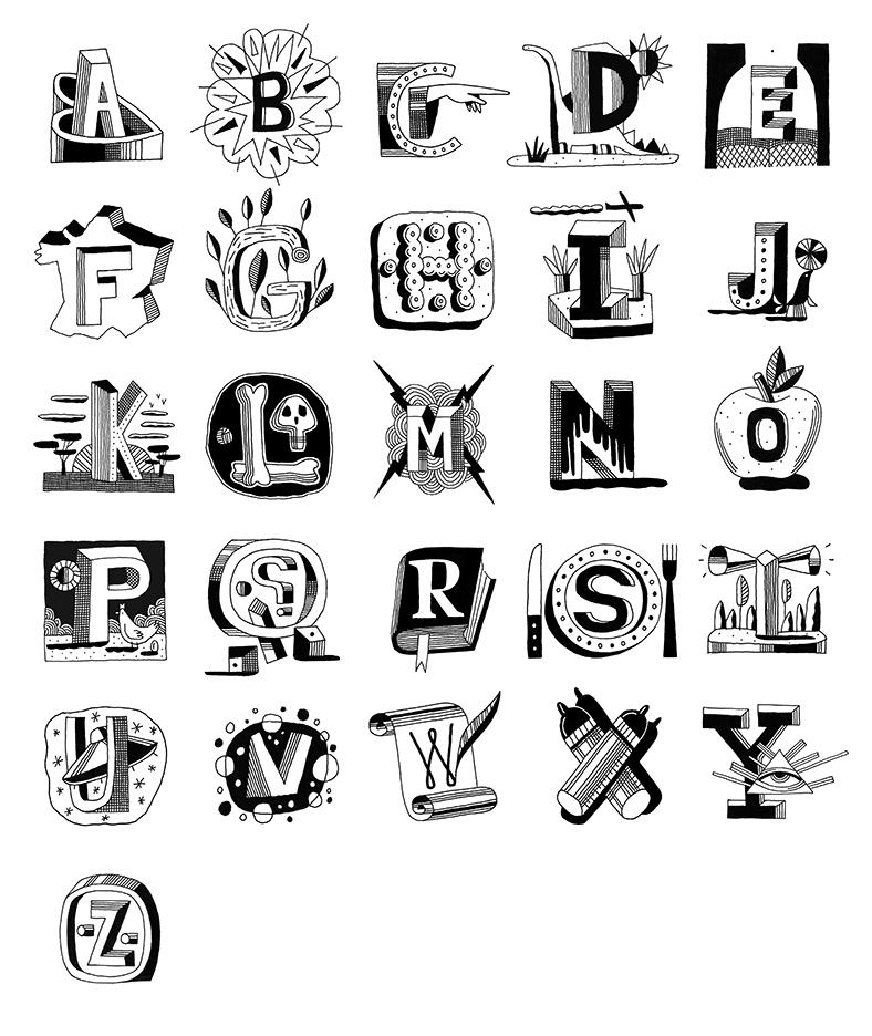 Christian-Roux-Alphabet-La-Vie-magazine