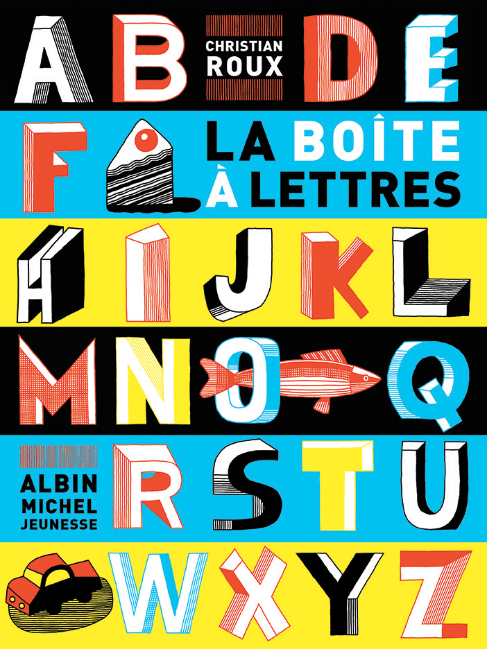 Christian-Roux-Childrens-book-cover-La-Boite-a-lettres-The-Letters-box-Albin-Michel-Jeunesse-publisher-