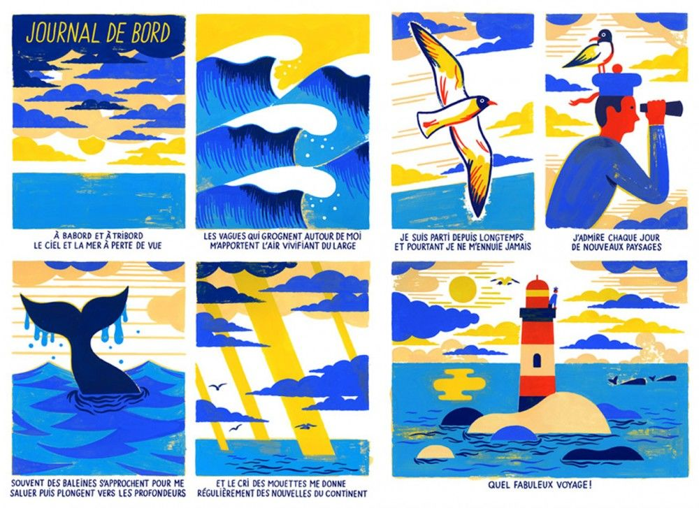 Comic-strip-for-Air-France-Magazine