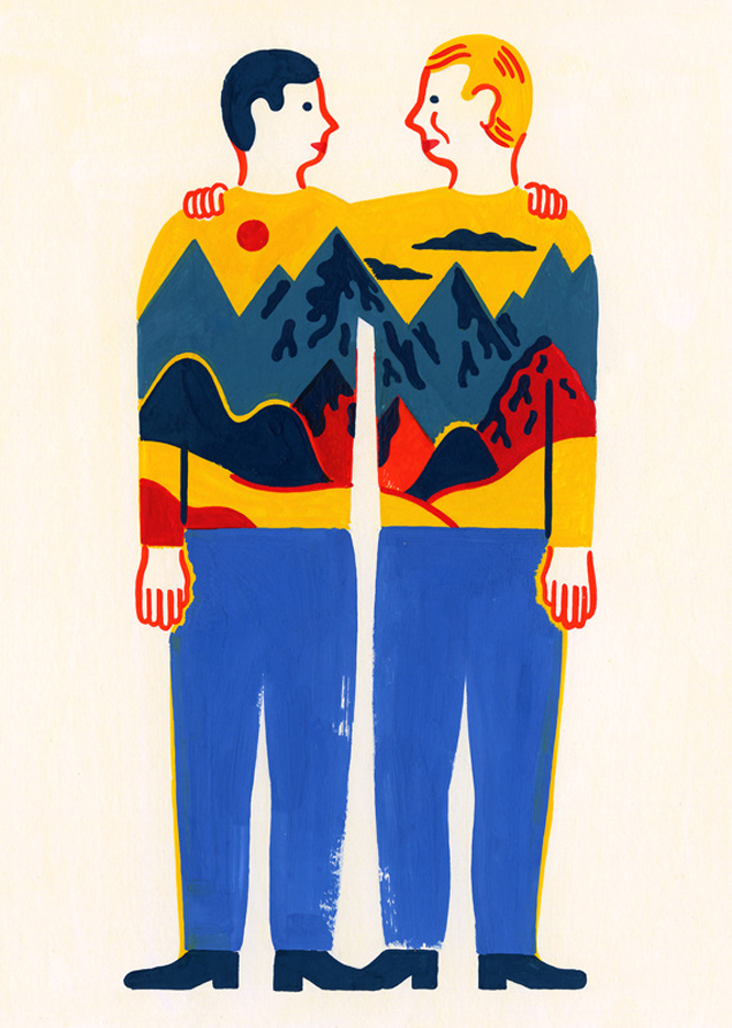 Editorial-illustration-Twins-