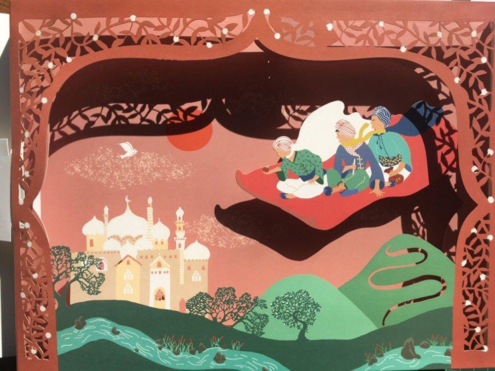 Hélène-Druvert-Book-illustration-Les-Mille-et-Une-Nuits-3-princes-Auzou-publisher