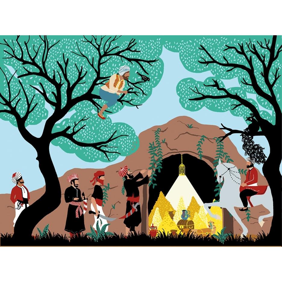 Hélène-Druvert-Book-illustration-Les-Mille-et-Une-Nuits-Alibaba-Auzou-publishings