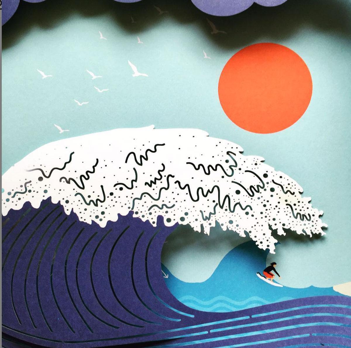 Hélène-Druvert-Paper-art-wave