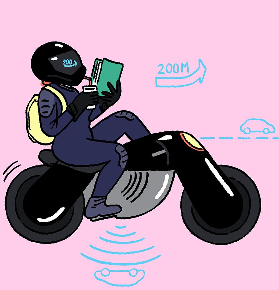 Illustration-for-Frankfurter-Allgemeine-Zeitung-self-driving-moto-