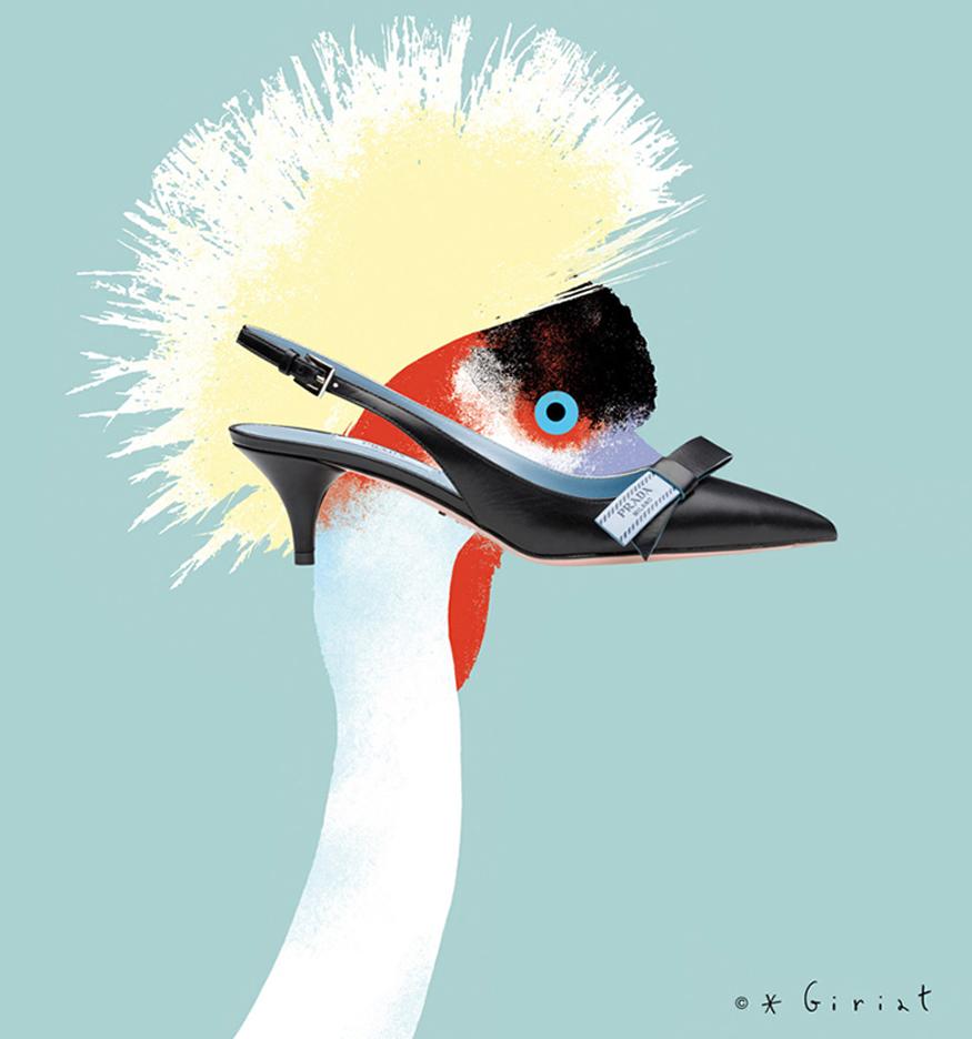 Illustration-for-Marie-France-Magazine-Prada-shoes-