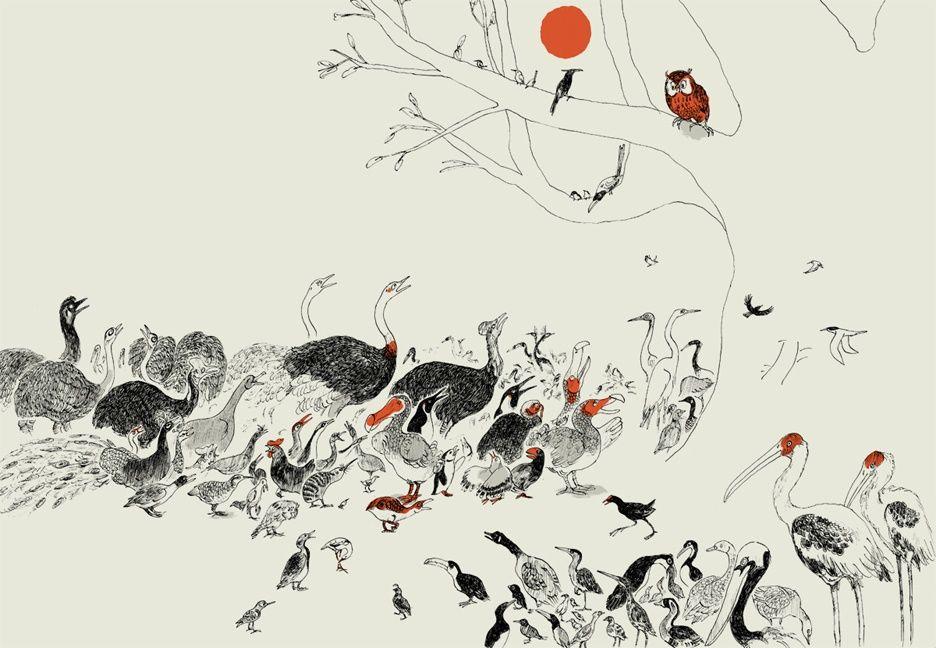 Illustration-from-Le-roi-des-oiseaux-published-by-Albin-Michel-Jeunesse