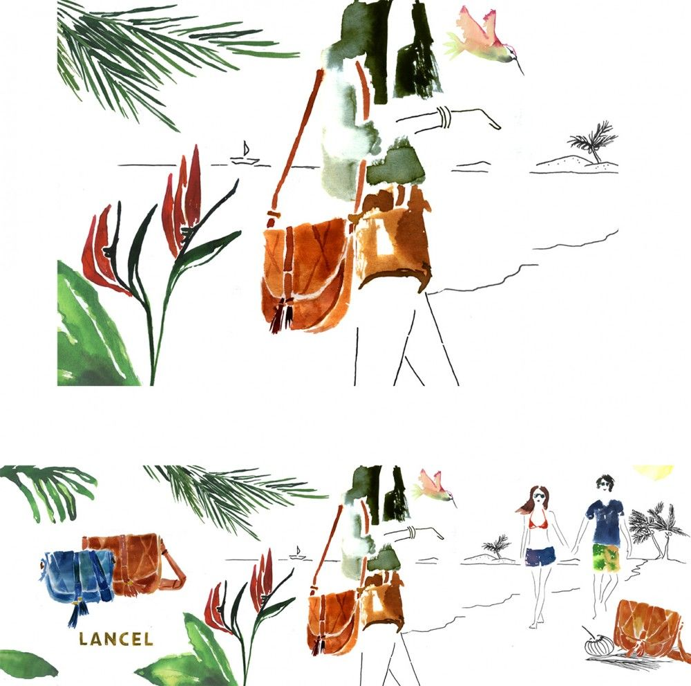 Julia-Perrin-Illustration-for-Lancels-social-media-campaign-3