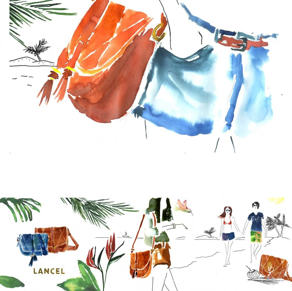 Julia-Perrin-Illustration-for-Lancels-social-media-campaign