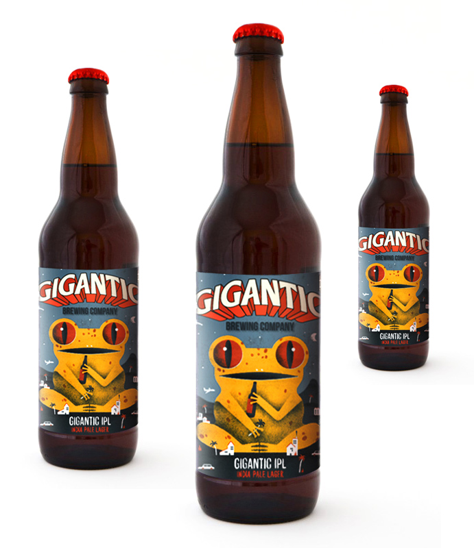 Label-design-for-a-limited-edition-of-Gigantic-beer