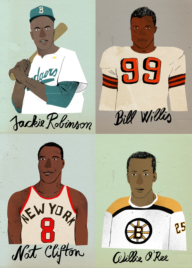 "Lehel-Kovacs-""Firsts""-portraits-of-the-first-African-American-basketball-player-and-football-player"