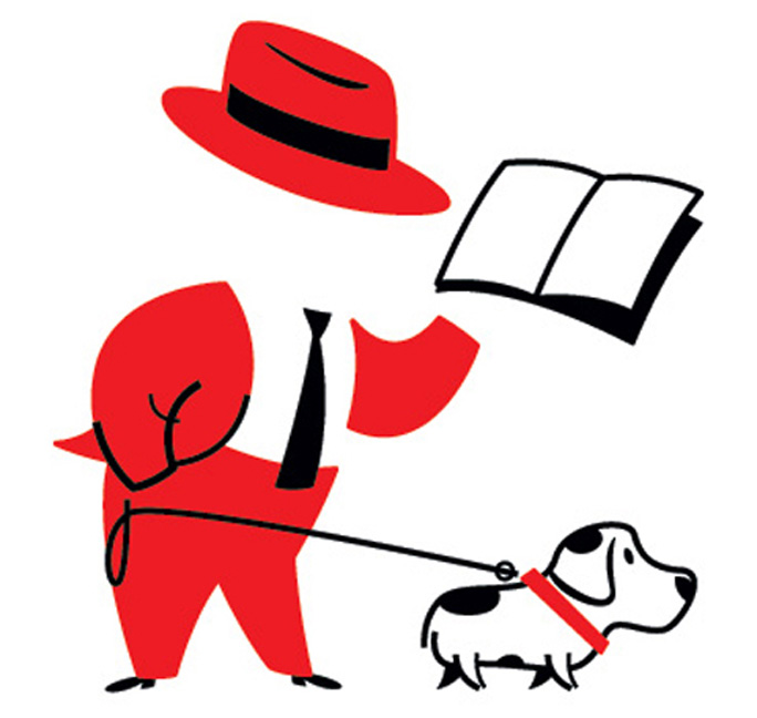 Reading-and-dog-walking