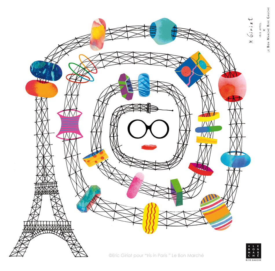 Scarf-design-for-Le-Bon-Marché-for-the-event-IRIS-IN-PARIS