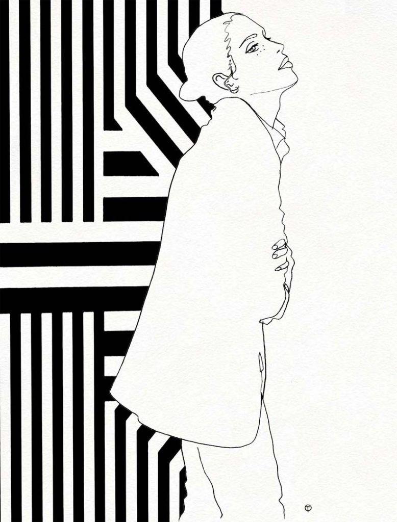 Tinou-Le-Joly-Sénoville-Illustration-BW-Silhouette