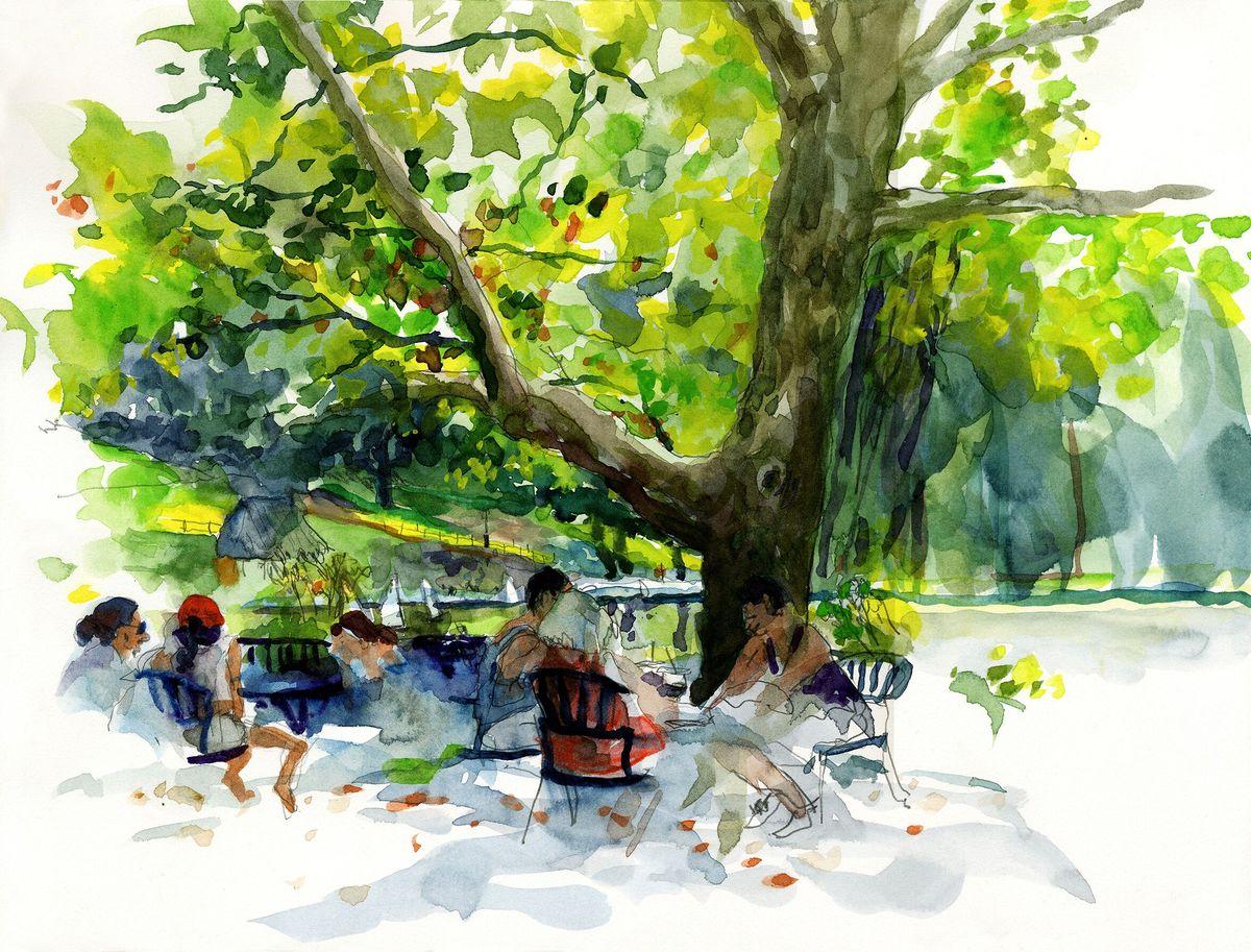 Garance-Marielle-Durand-carnet-Central-Park-hot-day