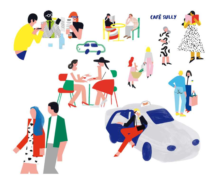 Morland-Mixité-Capitale_characters-galery-and-Taxi