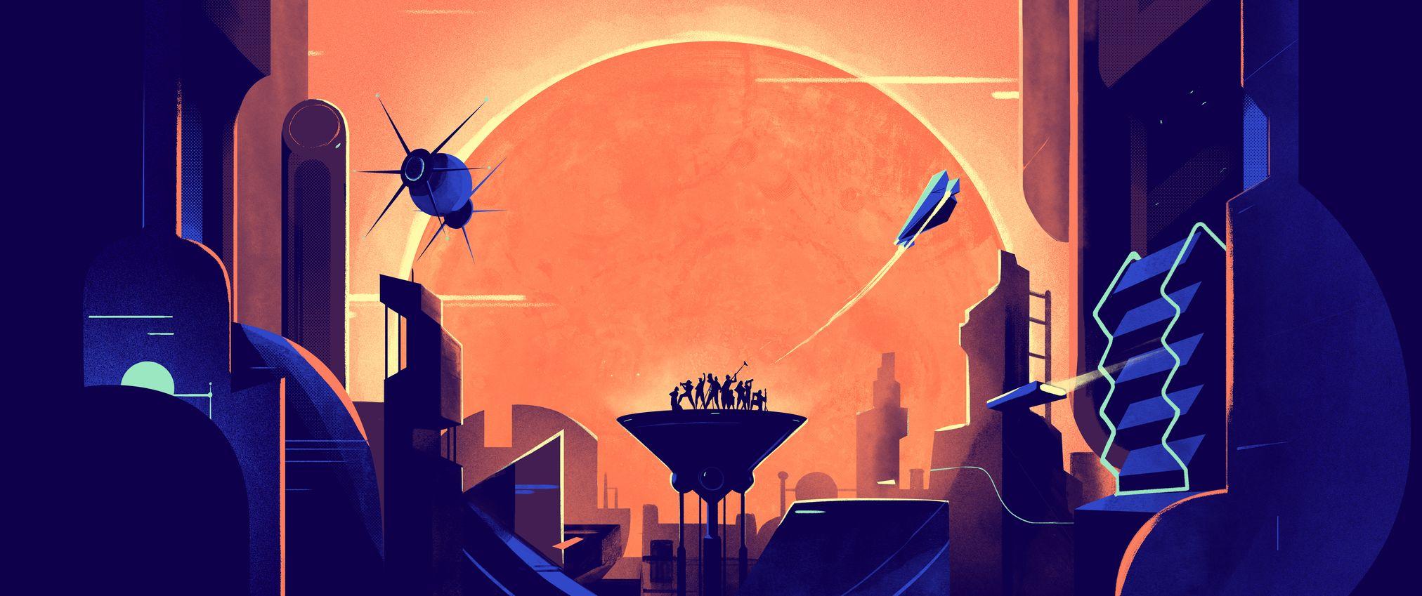 garance-illustration-Leonard-Dupond-Being-Human-Is-huge-moon-and-title