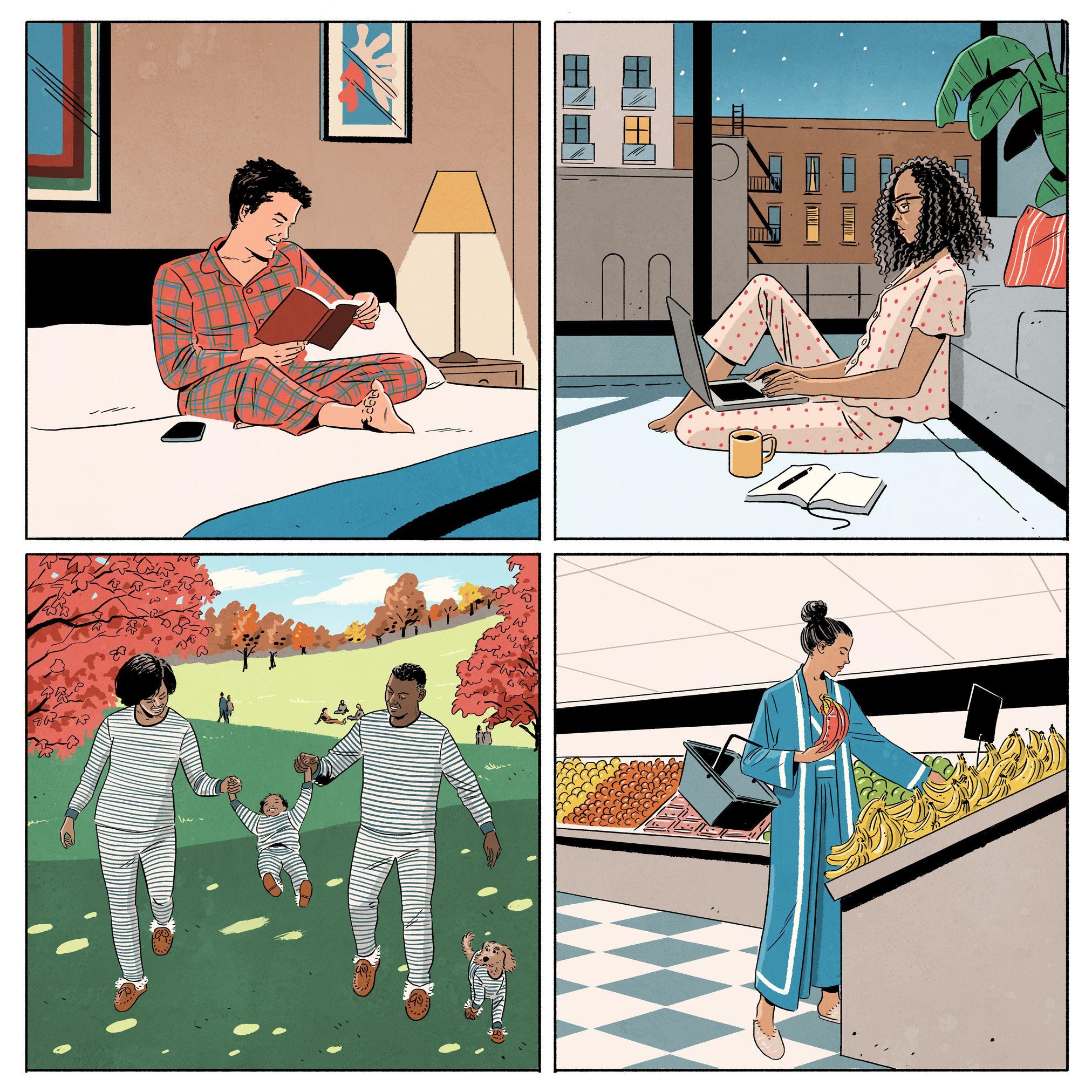 garance-illustration-Jack-Richardson-WSJ-Off-Duty-Cover-PJs-that-never-sleep-1