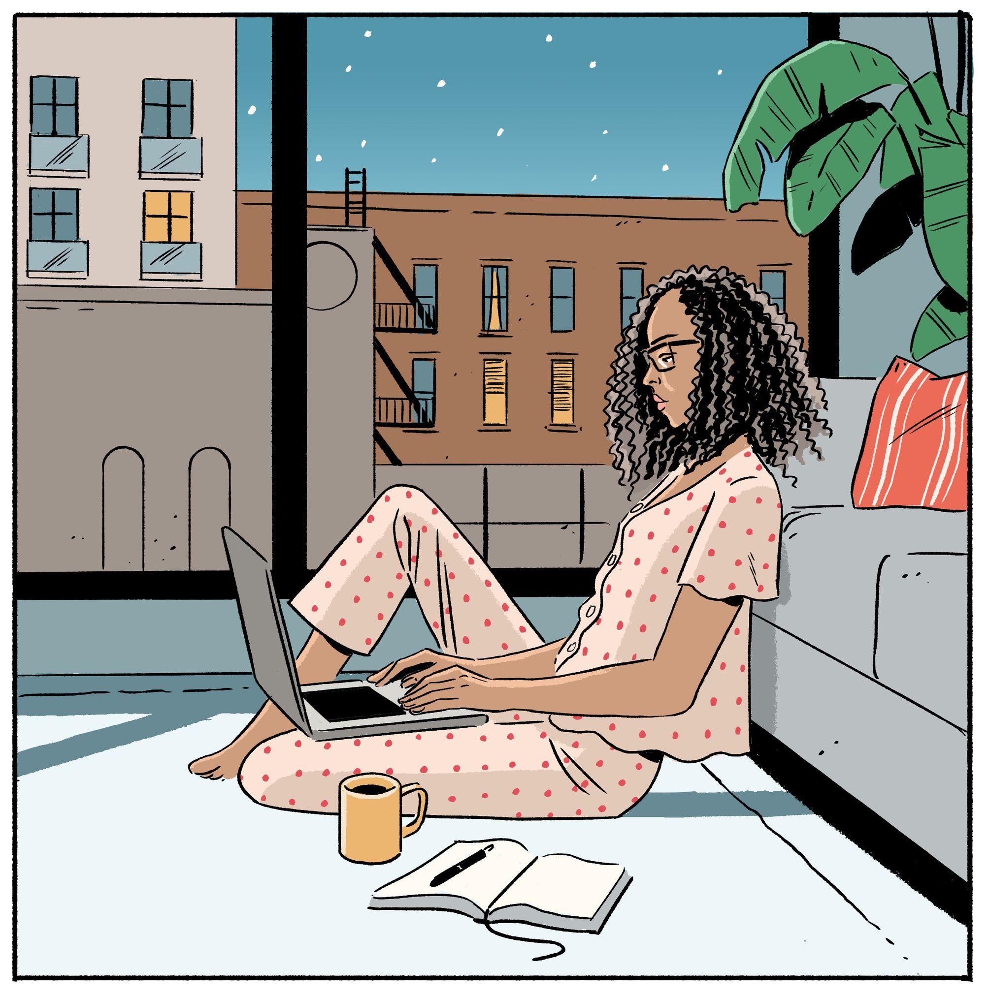 garance-illustration-Jack-Richardson-WSJ-Off-Duty-Cover-PJs-that-never-sleep2