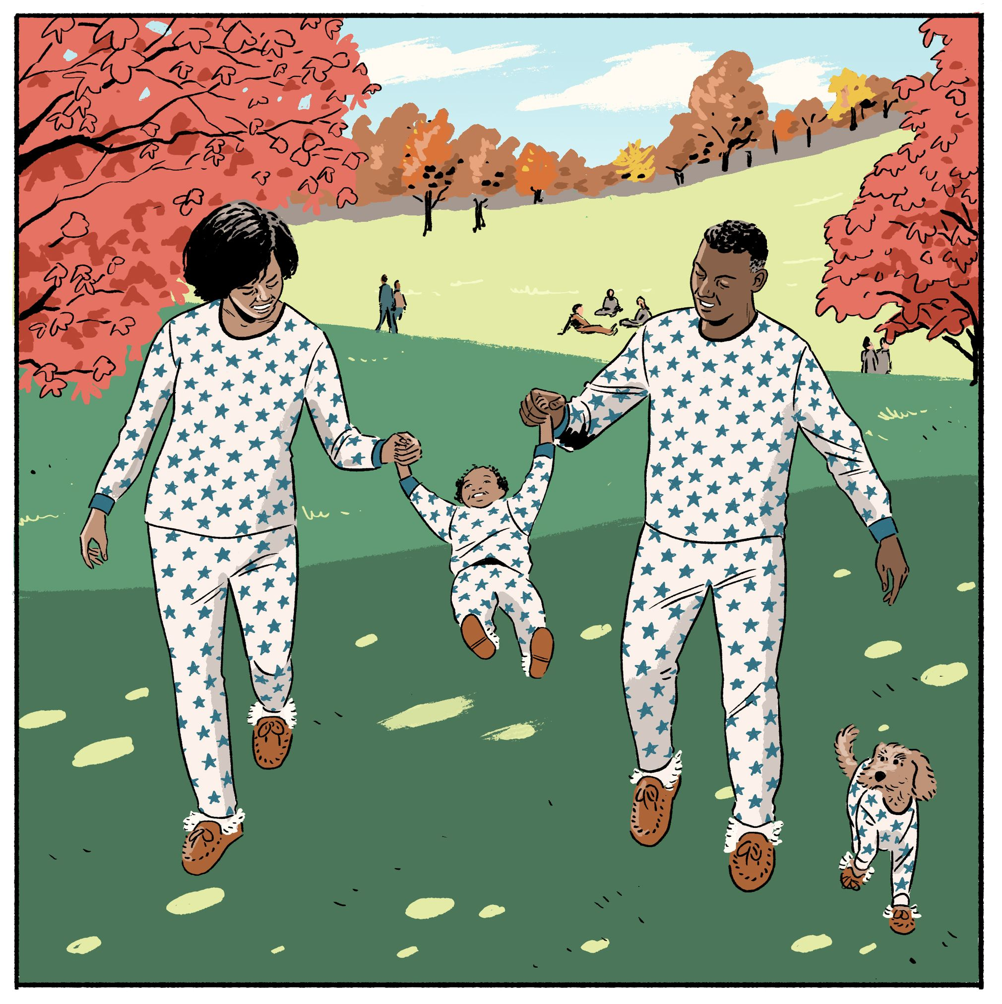 garance-illustration-Jack-Richardson-WSJ-Off-Duty-Cover-PJs-that-never-sleep3