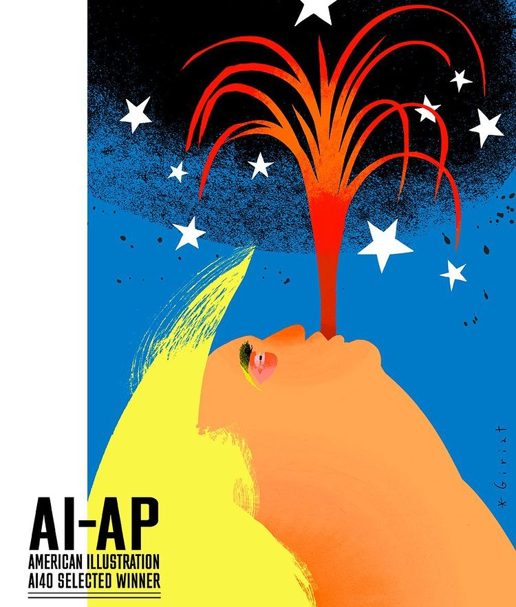 Garance-Illustration-Eric-Giriat-AI-40-Selected-Winner-Volcano-Trump