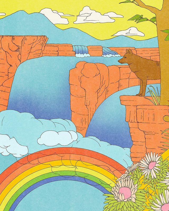 Garance-illustration-Emma-Roulette-Chobani-Rainbow-Canyon