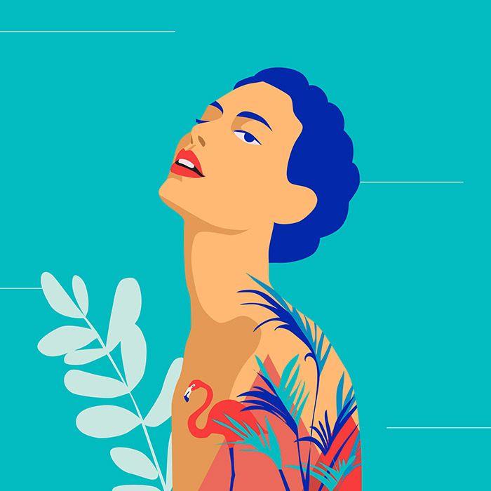garance-illustration-Irina-Kruglova-Pink-Flamingo
