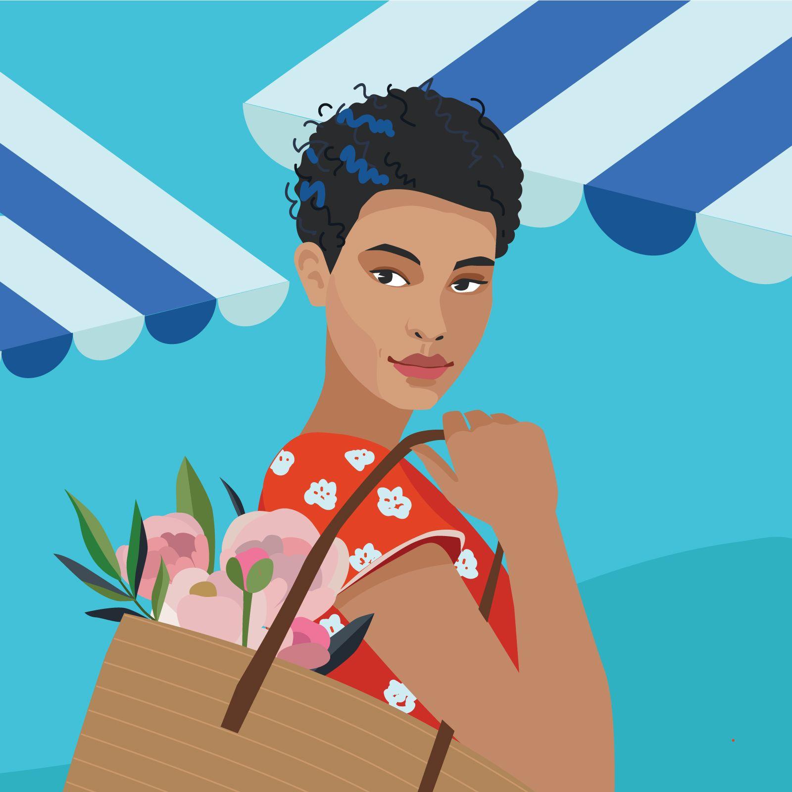 garance-illustration-Irina-Kruglova-Procter-Gamble-All-Natural-_-Play-It-Coil_female