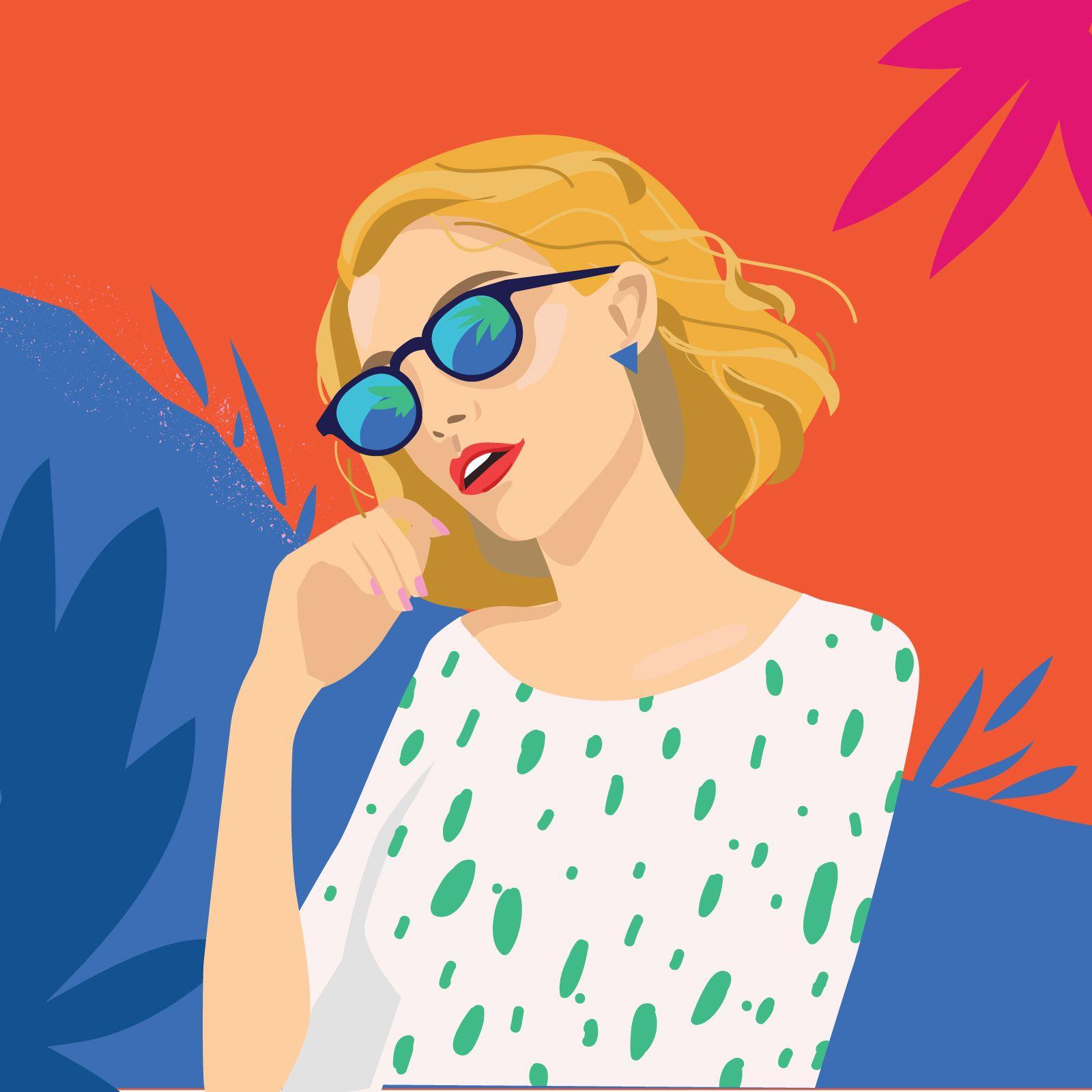garance-illustration-Irina-Kruglova-Procter-Gamble-beach_chic