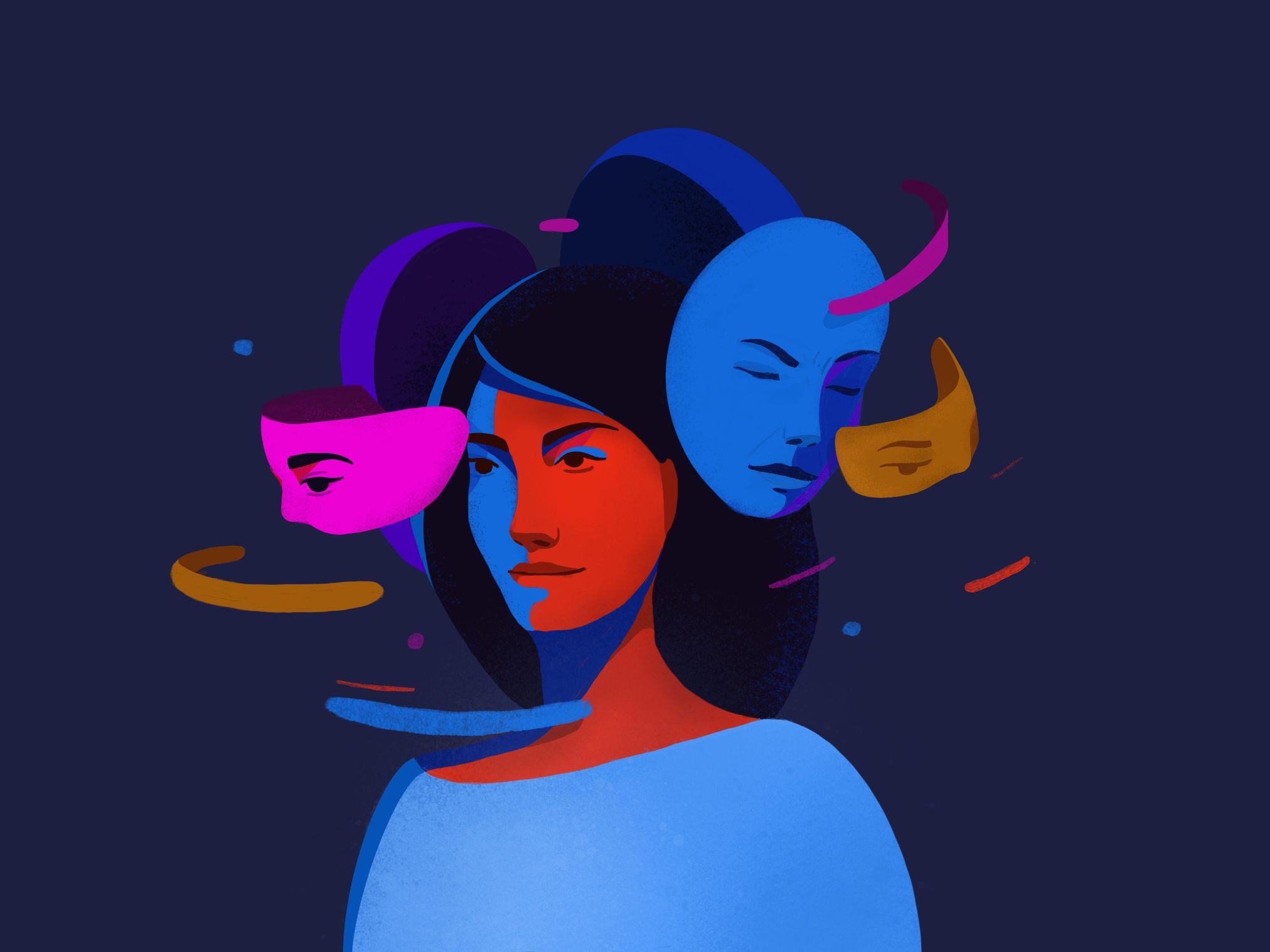 garance-illustration-Irina-Kruglova-The-masks-we-wear