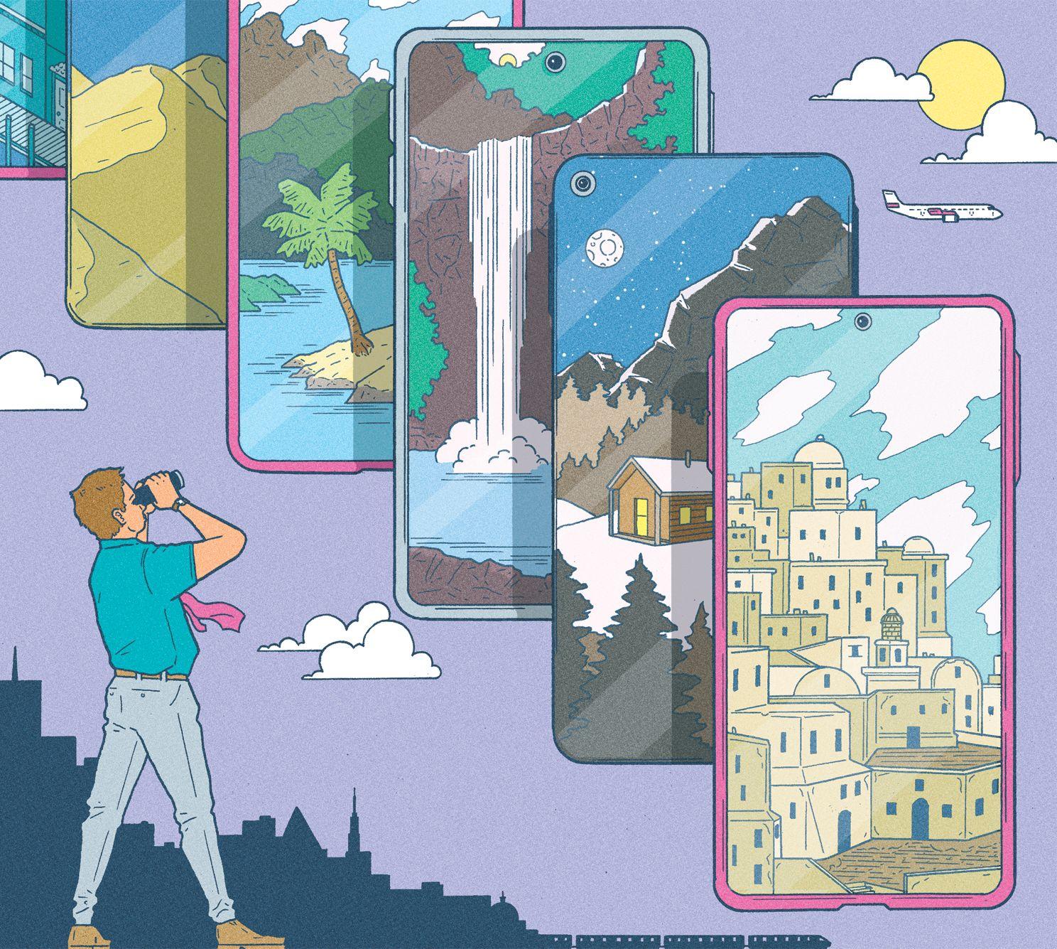 garance-illustration-Kyle-Ellingson-BBC-Science-Focus-Magazine-How-to-Bag-the-Best-Holiday-Deal