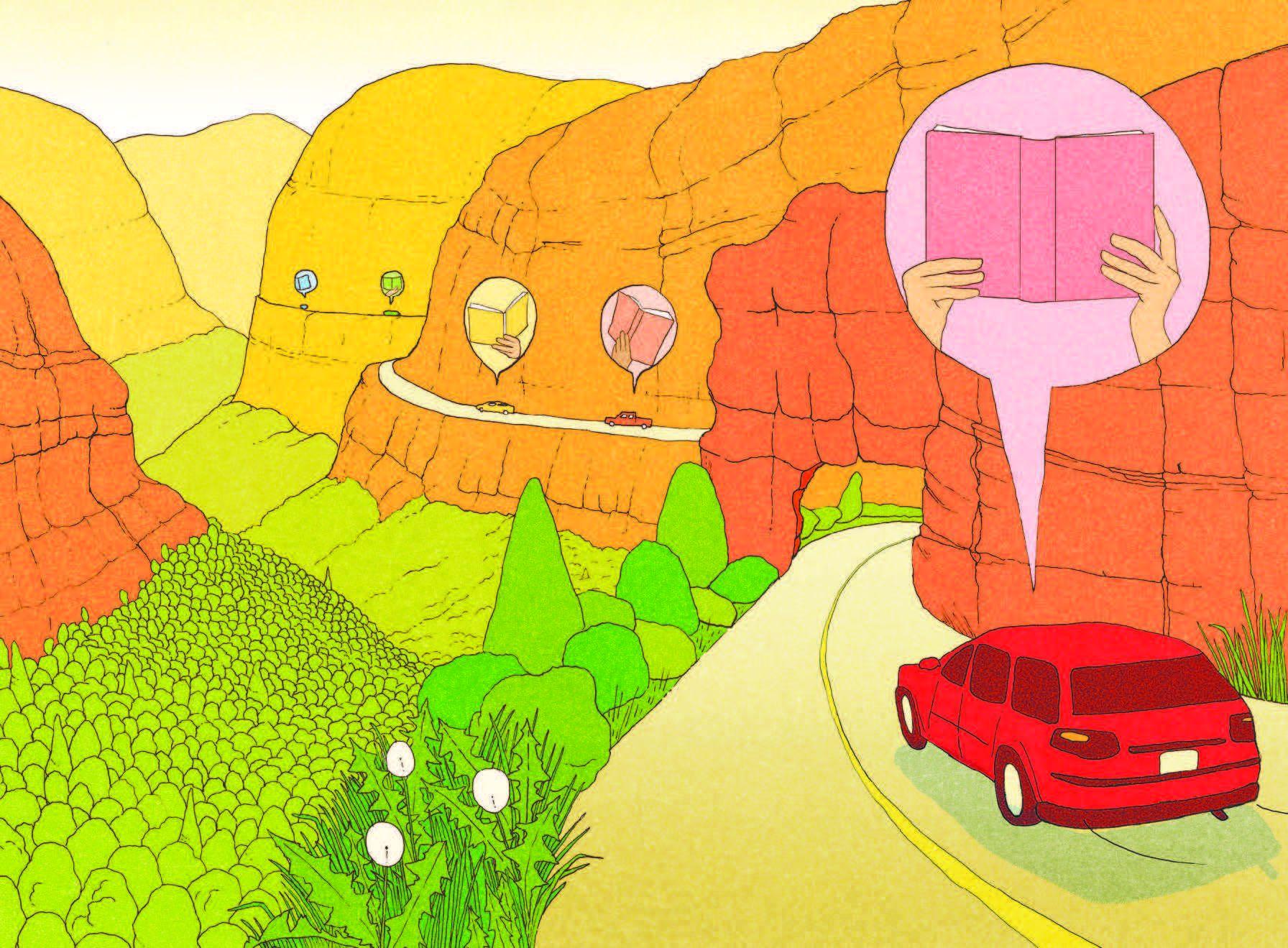 garance-illustration-Emma-Roulette-Washington-Post-Best-Audio-Books-On-a-Car-Trip